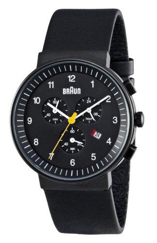 Braun Men's Quartz Chronograph Watch BN0035BKBKG With Leather Strap