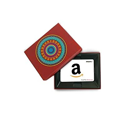 Amazon.in Gift Card In a Red Festive Gift Box