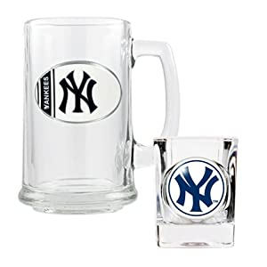 New York Yankees - MLB Boilermaker Mug & Shot Gift Set by Great American Products