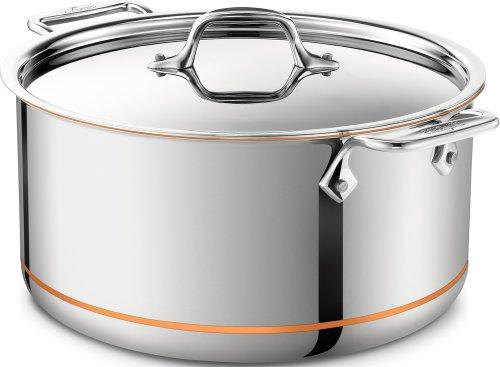 All-Clad 6508 SS Copper Core 5-Ply Bonded Stockpot / Cookware, 8-Quart, Silver (Cookware All Clad Copper Core compare prices)