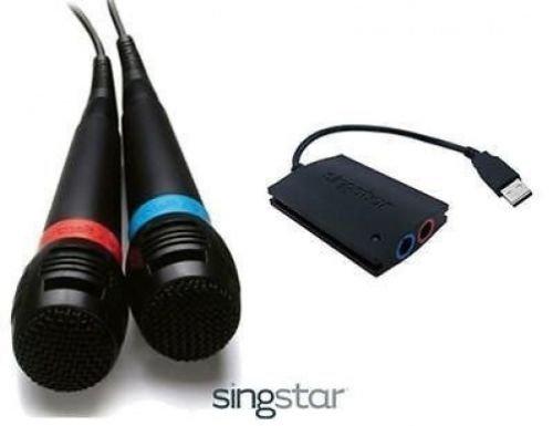 Micros Singstar filaires + récepteur pour PS2/PS3