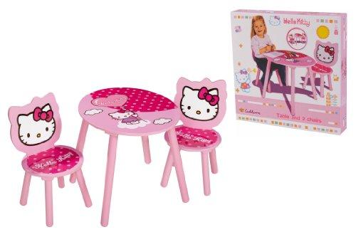 Chambre denfant eichhorn 100003133 ameublement et d coration table 2 chaises en bois - Table et chaise hello kitty ...