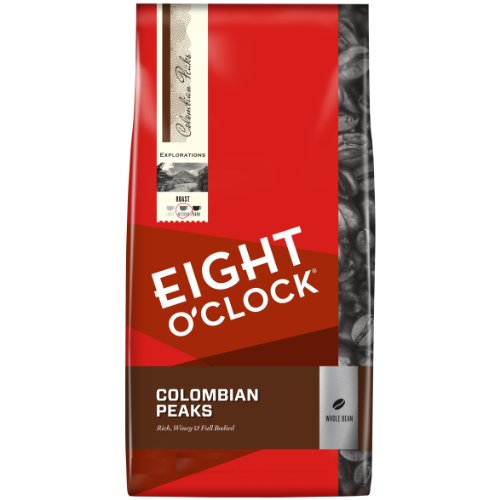 Eight O'Clock Colombian Peaks Whole Bean Coffee,