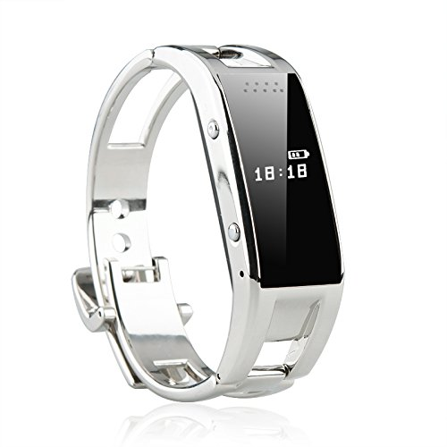 Bluetooth 3.0 Smart Wristband Watch - Lcd Display, Support Sms + Phonebook Sync, Remote Camera, Pedometer, Sleep Management