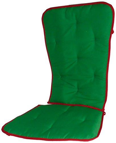 Baby Doll Holiday Solid Reversible Rocking Chair Pad, Green/Red