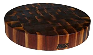 "John Boos 18"" Round Walnut Chopping Block"