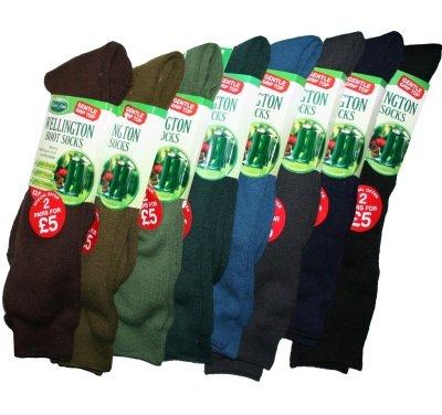 Mens Wellington Boot Socks Dark Green 712