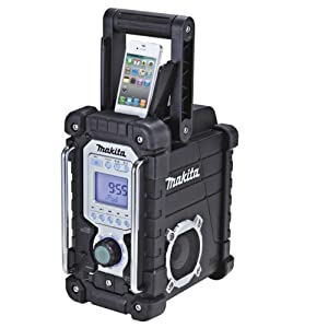 makita jobsite radio with ipod dock black diy tools. Black Bedroom Furniture Sets. Home Design Ideas