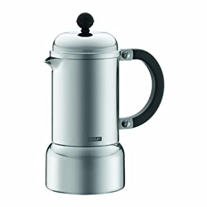 Bodum Chambord Aluminum Stovetop Espresso Maker