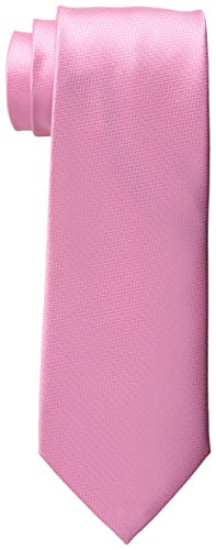 Haggar Men's Tall Herringbone Washable Extra Long Tie, Pink, One Size (Pink Extra Long Ties compare prices)