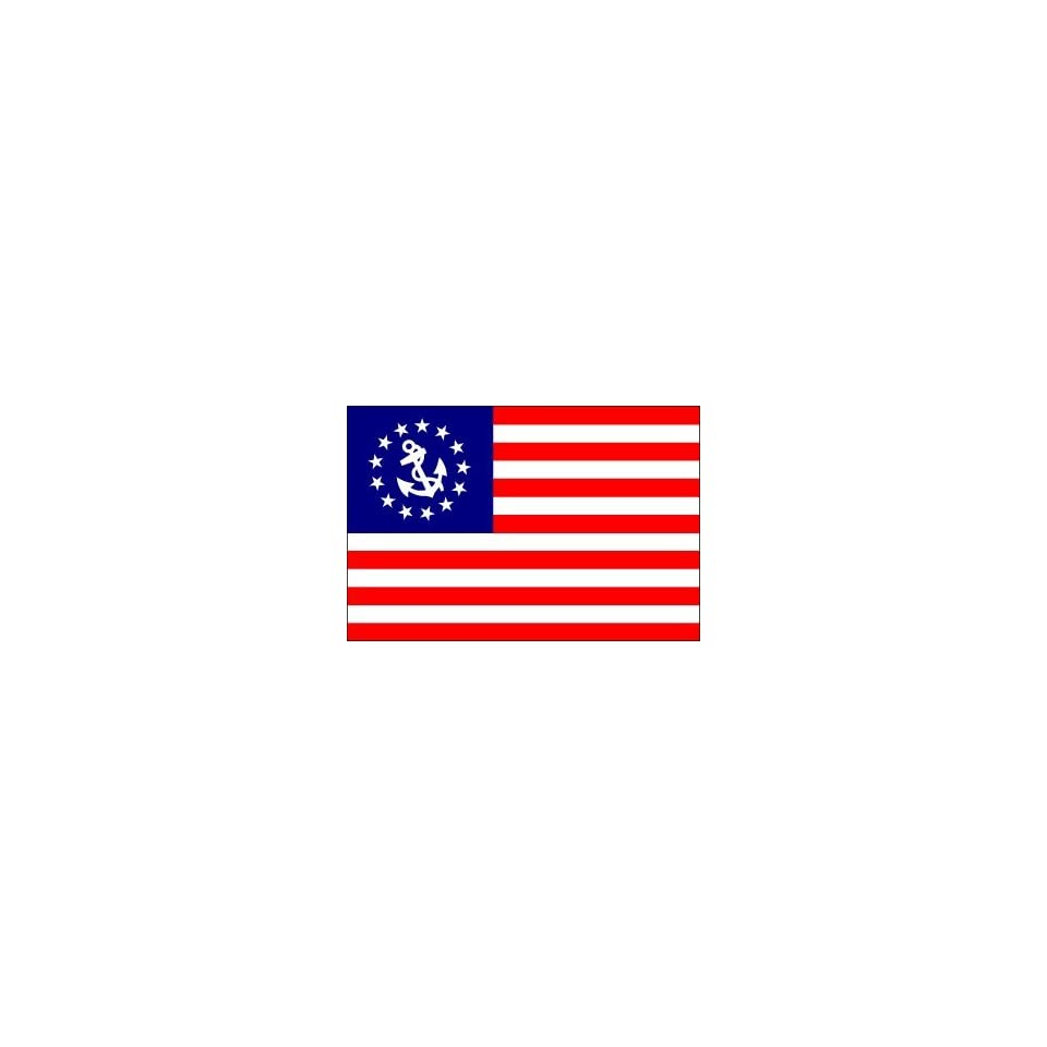 YACHT FLAG SALE 12X18 INCH DELUX SEWN US YACHT ENSIGN FLAG 32-8118 MARINE BOAT