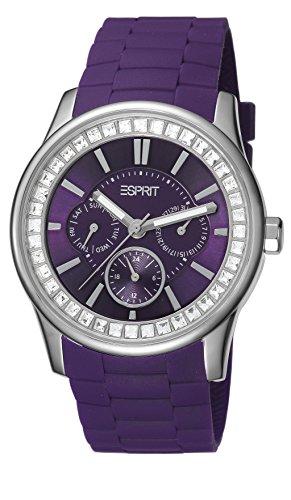 Esprit A.ES105442007 - Reloj analógico de cuarzo para mujer con correa de resina, color morado