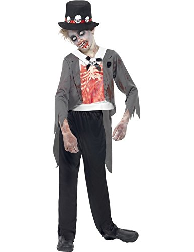 Child Zombie Groom Fancy Dress Costume