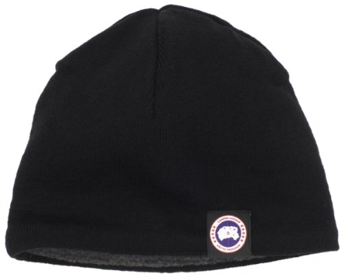 Canada Goose Men's Merino Wool Beanie (One Size, Black) (Canada Goose Merino Wool Hat compare prices)