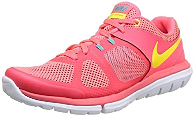 Nike Women's Flex 2014 Rn Hypr Punch/Vlt/Actn Rd/Hypr Jd Running Shoe 6 Women US