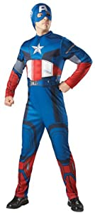Mens Marvel Avengers Captain America Fancy Dress Costume Standard One Size