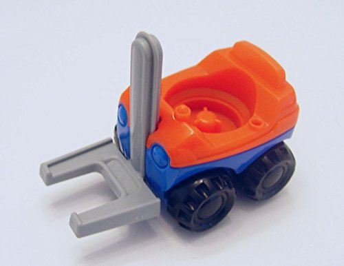 Little People Fisher Price 2002 Blue & Orange Replacement Forklift Truck - 1
