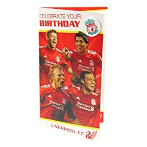Liverpool Fc Birthday Card Players from Liverpool FC