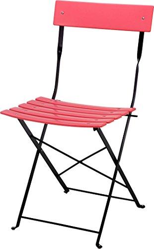 Berliner-Biergartenstuhl-oder-Tisch-pink-Holz-Gartenstuhl-klappbar-mit-Metallgestell