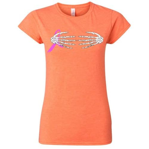 Skeleton Hands Breast Cancer Ribbon Women's Junior Fit T-Shirt