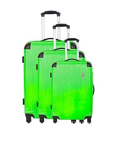 Platinium Set de 3 trolleys rígidos Huesca Verde