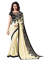Offo Deals Partywear Traditional Beige Women Saree ss-1807b