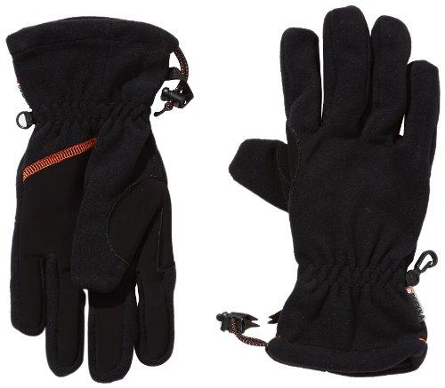 Brekka, Guanti Unisex Adulto Techfleece Gloves, Nero (Schwarz), M