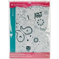 [해외]대량 구매 : American Girl Doodle & amp; /Bulk Buy: American Girl Doodle & Design Sketchbook 40pgs Pkg Art (3-Pack)
