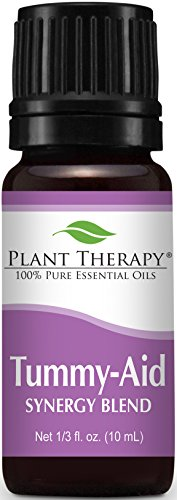 Tummy Aid Synergy Essential Oil Blend. 10 ml (1/3 oz). 100% Pure, Undiluted, Therapeutic Grade. (Blend of: Dill Seed and Sweet Fennel)