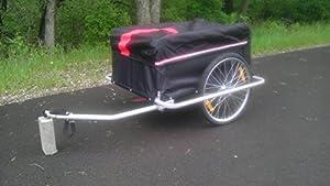 Aosom Elite II Bike Cargo / Luggage Trailer w/ Removable Cover - Black /