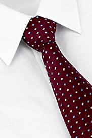 Ultimate Performance Pure Silk Spotted Woven Tie with Stain Resistant� [T12-7782-S]