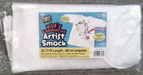 Kids Laminated Artist Smock with Pocket - Adjustable Fit - Ready to Decorate