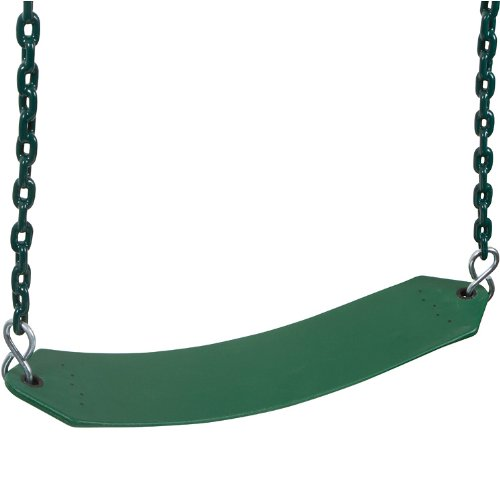 Premium Residential Belt Seat With 5.5Ft Coated Chain (Green) With Sss Logo Sticker