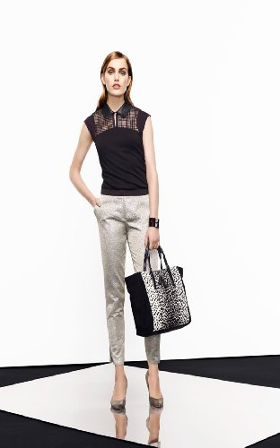 Metallic Jacquard Trouser