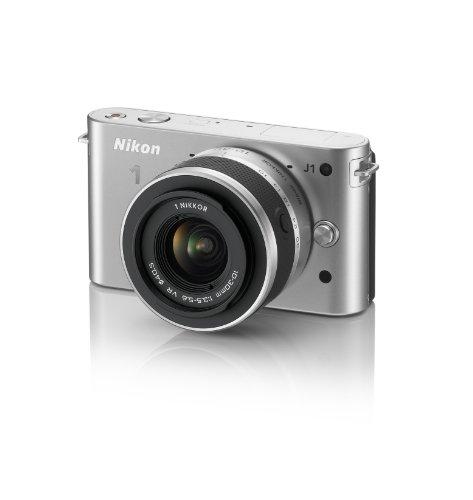 Nikon 1 J1 10.1 MP HD Digital Camera System with 10-30mm VR 1 NIKKOR Lens (Silver)