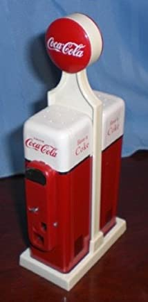 Vintage Coca Cola 1950s Vending Machine Tribute - Salt & Pepper Shakers This Set Was Produced in 1993