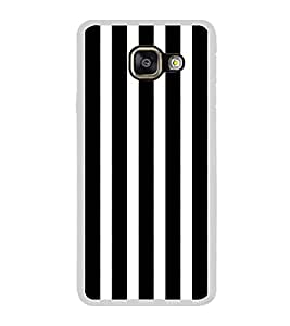 ifasho Modern Design of vertical Stripes black and white Back Case Cover for Samsung Galaxy A5 (2016)