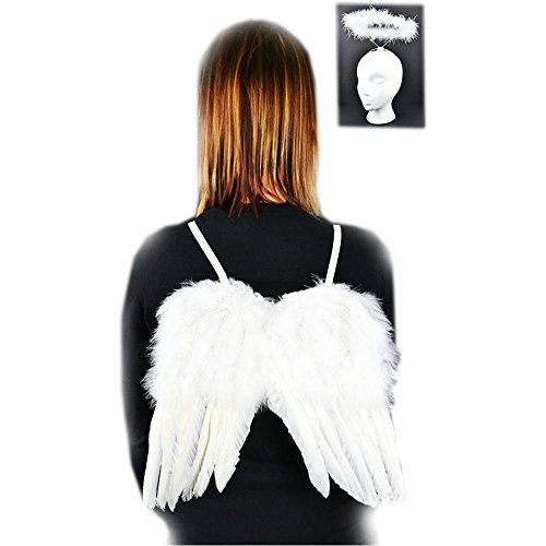 Angel Feather Wings & Halo Set - One Size