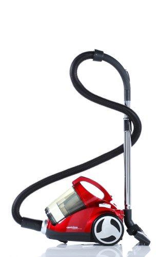 Dirt Devil M2013-1 Aspirapolvere Centrino Cleancontrol 2200 Watt, inclusa spazzola per parquet e mini spazzola turbo, 1 filtro filtrale a lamelle e 2 filtri di protezione, colore: Rosso