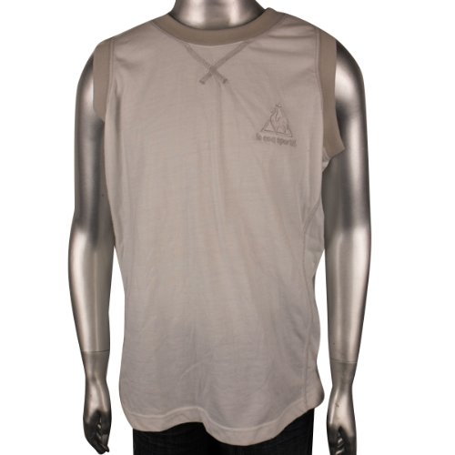Boys Kids Le Coq Sportif Sleeveless Tee T-Shirt Top Vest Basketball White Size