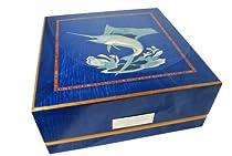 Giglio Blue Marlin 3 Rotorwind Watch Winder by Orbita With Numbered Plaque