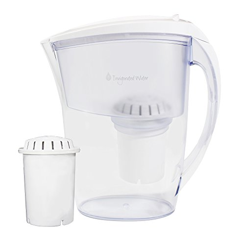 pH REFRESH Alkaline Water Pitcher Ionizer By Invigorated Water, 2 Long-Life Filters Included, 84oz, 2.5L, Filtered Water Purifier Machine, High pH Natural Filtration System (2017 Model)(White) (Ph Water Purifier compare prices)