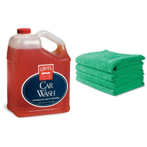griot s garage 11103 1 gallon car wash with 4 pack of micro fiber interior cloths products for. Black Bedroom Furniture Sets. Home Design Ideas