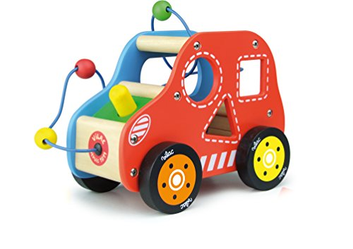 Vilac Multi Activity Touch and Feel Toy, Car