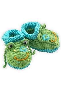 Joobles Organic Baby Booties - Flop the Frog