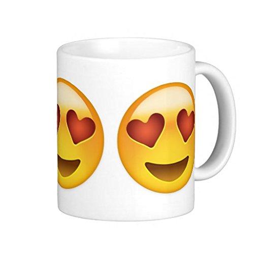 Emoji Smiling Face With Heart Shaped Eyes Coffee Mugs