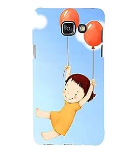 printtech Cute Girl Balloon Back Case Cover for Samsung Galaxy A7 (2016)