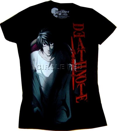 Death Note: L Sitting Black Junior T Shirt