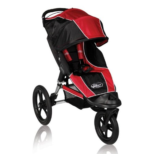 Baby Jogger Summit Xc Single Stroller, Red/Black front-1073374