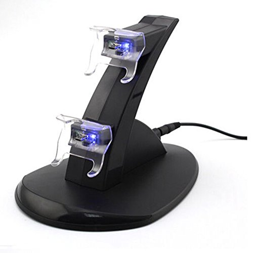 New Usb Led Fast Charging Stand Dock For Dual Xbox One Game Controller Black